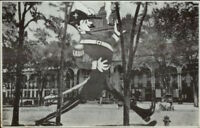 Saratoga Springs NY Hotel Giant Comic Soldier Overprint c1910 Postcard #1