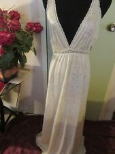 Vintage Miss Elaine Long Lite Lemon Yellow Nightgown About Sz. Small