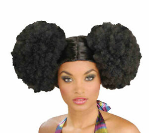 Afro Puff Wig Disco 70's Poofs Black Hair Halloween Costume Fro Dancer Club Gift