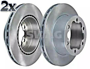 SWAG x2 pcs Brake Disc Rear For MERCEDES VW DODGE Sprinter 906 W906 2E0615601