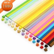 Origami papier de bande, meiso 1080 feuilles Origami étoiles – 27 couleurs décor