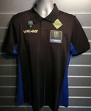 Authentique 2019 YAMAHA RACING VR46 Monster Energy Polo Shirt-Medium