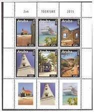 Aruba 2015 Toerisme Tourism Church Cruise ship Lighthouse MNH with tab
