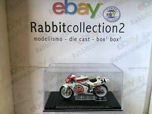 """Die Cast """"Suzuki RGV500 Kevin Schwantz 1993 """" Moto Scale 1/24"""