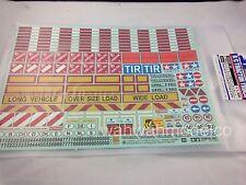 Tamiya Sticker Set for 1/14 Scale R/C Truck & Trailer TAM56534