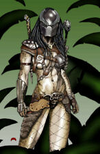 Predator alien hunter movie art horror sexy signed 11x17 print Dan DeMille