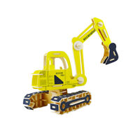 Wooden Woodcraft Construction Kit Excavator Model Craft Puzzle Toys Gifts 6L