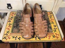 ARRAY Women's Leather Slip On Sandals Tan Size 9.5W- EUC