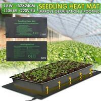 52X24cm Seedling Heat Mat Plant Seed Germination Propagation Clone Starter-Pad