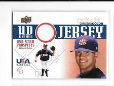 2009 UD Game Jersey USA Baseball Christian Colon Jersey Card #GJU-26
