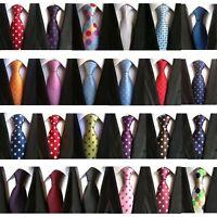 New Classic Polka Dot Blue JACQUARD WOVEN Silk Suit Men's Tie Necktie