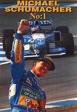 F1 POSTER~Michael Schumacher No. 1 Original NOS 24x36 Formula One Ferrari Import