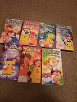 Pokemon vhs lot Of 7 Pikachu