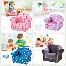Kids Children Toddler Chair Armchair Seat Fabric Upholstered Bedroom Floor Chair