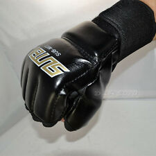 Muay Thai MMA UFC Training Punching Bag Training Speed Mitts Boxing Gloves Black
