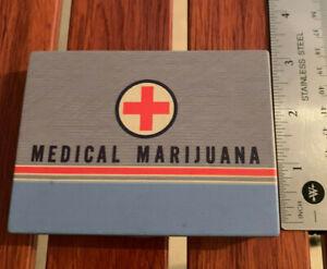 Retired Blue Q collectible tin - Medical Marijuana pocket case - Unique and Rare