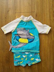 F&F BOYS SWIM COSTUME Shark AGE 1 -1.5 YRS