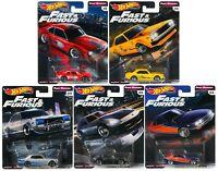 2019 Hot Wheels Fast & Furious Premium Fast Rewind Set of 5, 1/64 Diecast Cars
