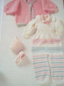BABY KNITTING PATTERN DUNGAREES & CARDIGAN SET AGE 6-12 MONTHS PHILDAR YARN DK