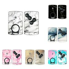 MARBLE Skin to RENAULT Clio Mk4 Megane Mk3 Card Key Fob Sticker Wrap Cover Decal