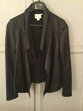 DKNY Pure Soft Lambskin Black Leather Jacket With Cotton Lining, S/P