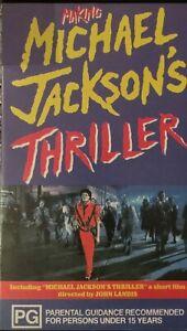 Making Michael Jackson Thriller John Landis VHS Video Tape 1983 Vintage Rare