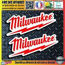 lot 2 Stickers autocollant Milwaukee outillage tool adhésif decal sponsor