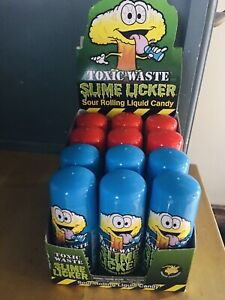 Toxic Waste Slime Lickers Sour Rolling Liquid Candy Licker TikTok- Blue And Red