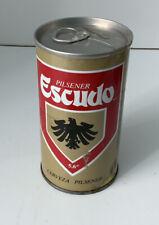 Escudo Cerveza Pilsener; 350 cc, 12oz Pull Tab Beer Can Santiago, Chile Empty