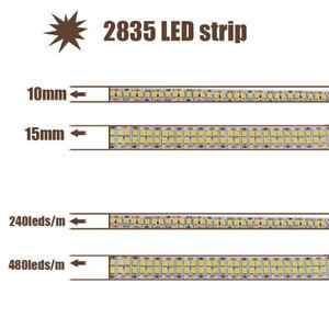 LED Strip light Flexible 2835 SMD 240leds/M 480leds/m Strips Lamp DC12V For Home