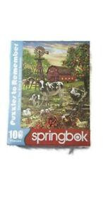 Springbok's 100 Piece Jigsaw Puzzle Barnyard Animals