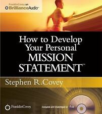 NEW CD How to Develop Your Personal Mission Statement by Stephen Covey