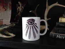 ALL SEEING EYE COFFEE MUG!  ouija occult vtg third eye crowley oddities obscura