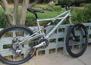 1995 Cannondale Prophet Silver Frame Mountain Bike- Medium- Excellent Condition