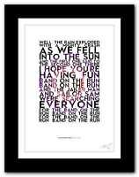 PAUL MCCARTNEY & WINGS ❤ Band On The Run ❤  song lyrics poster art print #64