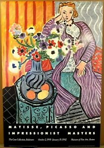 HENRI MATISSE-Purple Robe and Anemones-Museum of Fine Arts, Boston-Poster 1991
