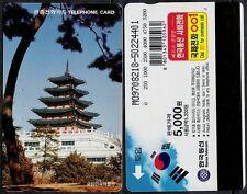 TK Süd Korea Südkorea South Korea Pagode Haus Telefonkarte Phone Card