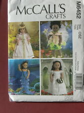 "McCall's Pattern 6452 18"" DOLL COSTUMES FAIRY PRINCESS fit American Girl Dolls"