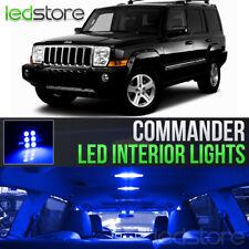 2006-2010 Jeep Commander Blue LED Lights Interior Kit Package Bulbs