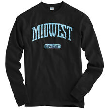 Midwest Represent Long Sleeve T-shirt LS - Illinois Iowa Indiana - Men / Youth