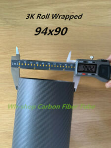 2.0wall 3k Carbon Fiber Tube ID 90mm x OD 94mm Length 500mm Roll Wrapped  94*90