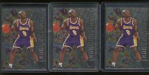 Investor Lot of (3) 1996-97 Fleer Metal #181 Kobe Bryant Lakers RC Rookie HOF