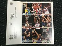 1993-94 Skybox NBA Hoops 9 Card Uncut Sheet Inside Stuff Mourning Barkley Kemp +