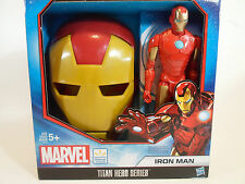 "Iron Man ironman Face Mask and 11- 1/2"" Action Figure Titan Hero Series"