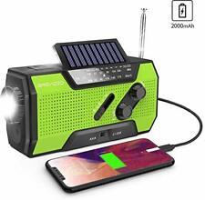 WIND Up Radio, radio di emergenza Energia Solare Manovella AM/FM Radio Meteo con portatile