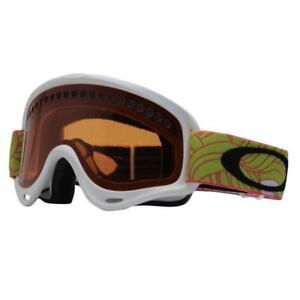Oakley 57-768 XS O FRAME Plume White Sunset w/ Persimmon Youth Snow Ski Goggles