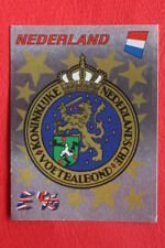 Panini EURO 96 N.75 BADGE NEDERLAND New With RED back TOPMINT!!
