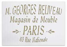 Boulangerie französische vintage Schrift stencil Schablone für  Möbeldeko
