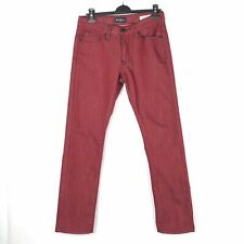 GUESS Regular Slim McCrae Fit Marl Red Men's Casual Jeans W32 L31 VGC