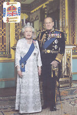 """QUEEN ELIZABETH II DIAMOND JUBILEE (WITH PHILIP) FRIDGE MAGNET 5"""" X 3.5"""""""
